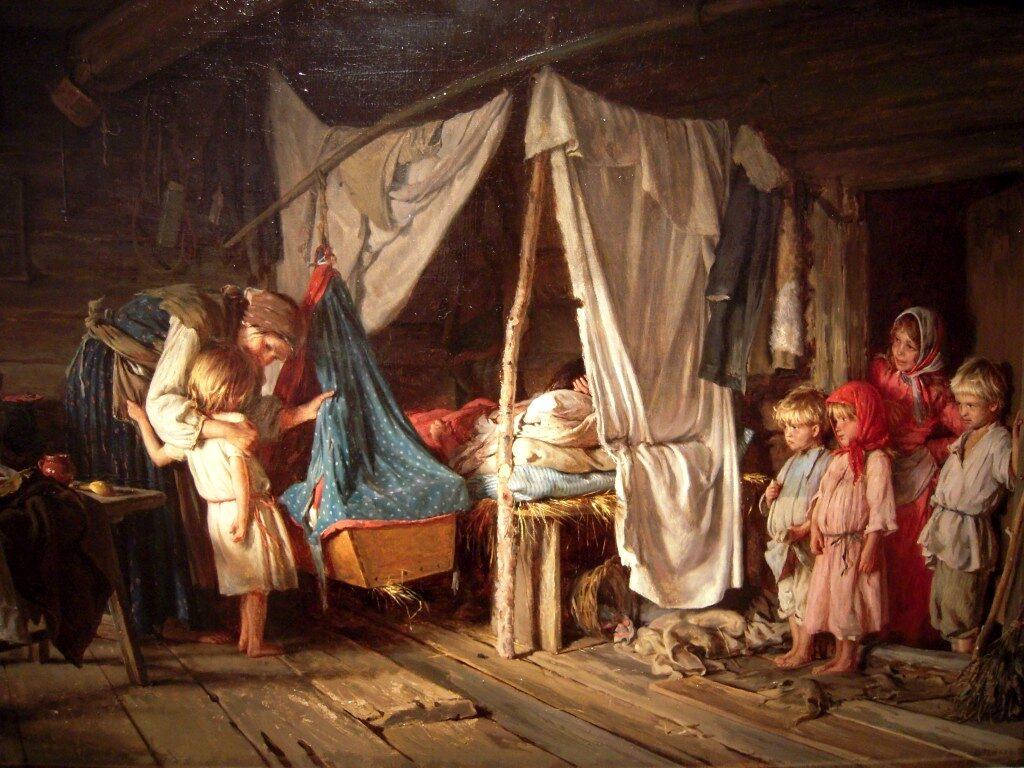 «Выздоравливающая», (1889) , Лемох