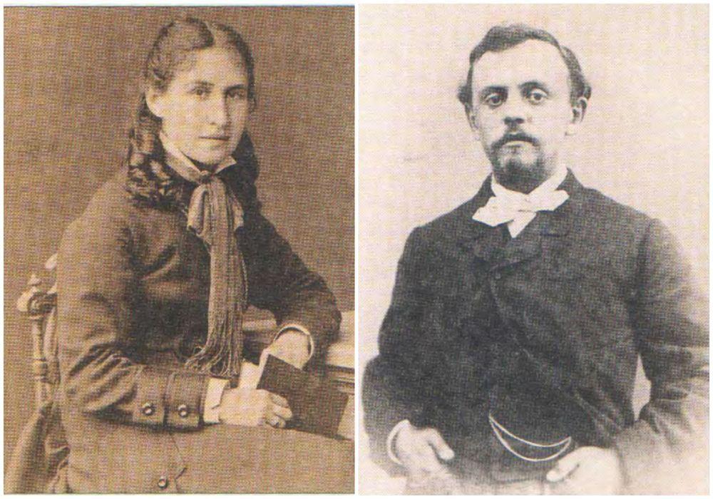 Савва Мамонтов с суупругой Елизаветой Григорьевной