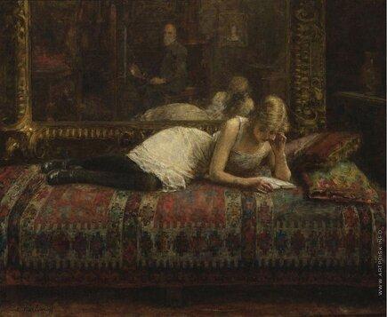 Харламов А. девушка читает лежа