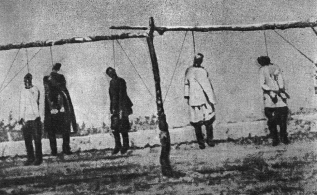 """""""Столыпинские галстуки"""". Военно-полевой суд в действии."""