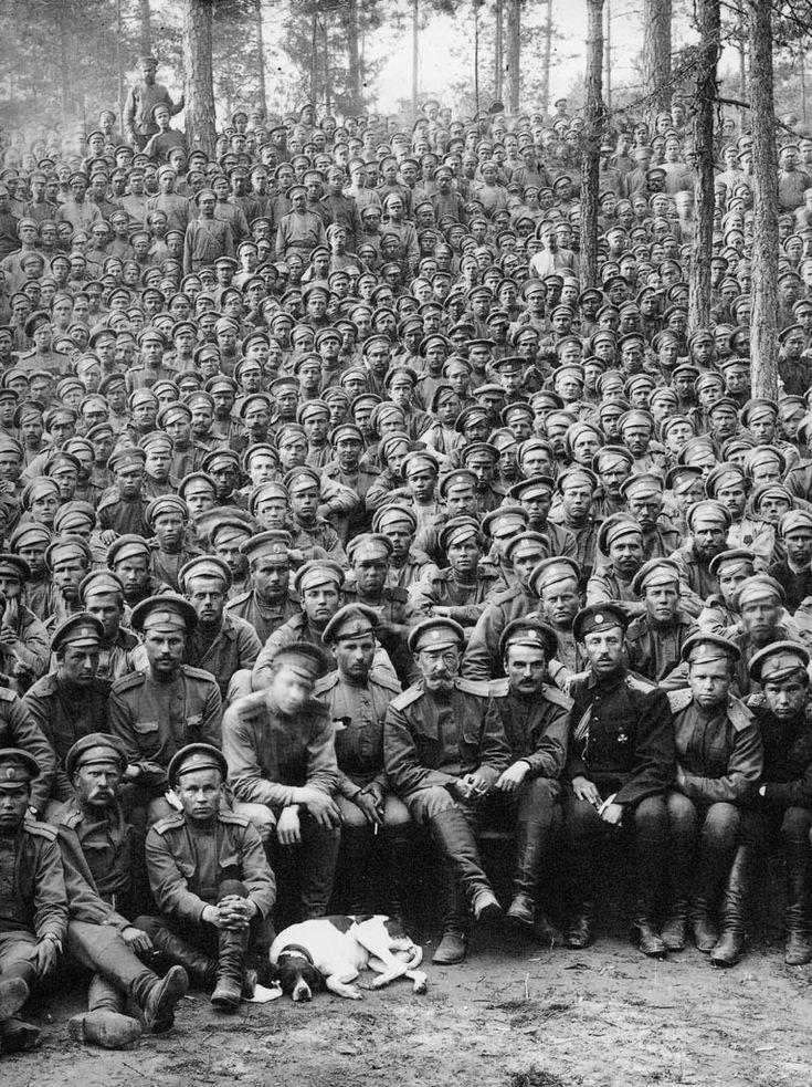 Первая мировая война. Русские солдаты