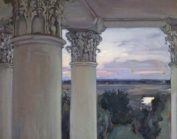 Из окна старого дома. Введенское. 1897