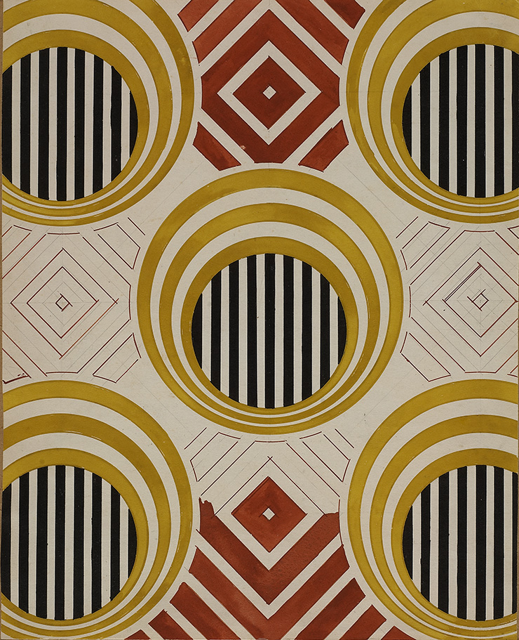 Эскиз для ткани, 1923-24 гг.