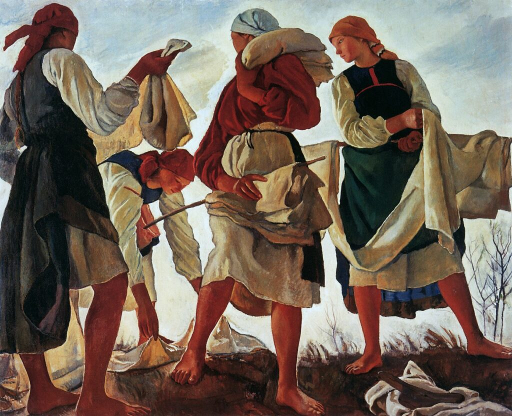 Беление холста. 1917.