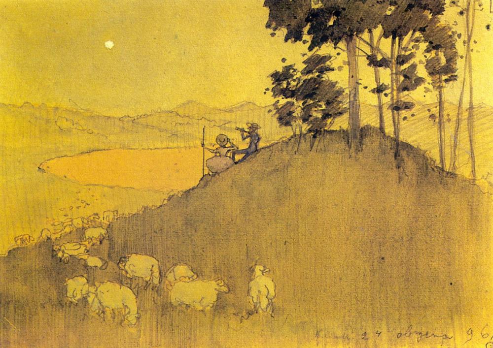 «Прогулка после дождя», 1896 год