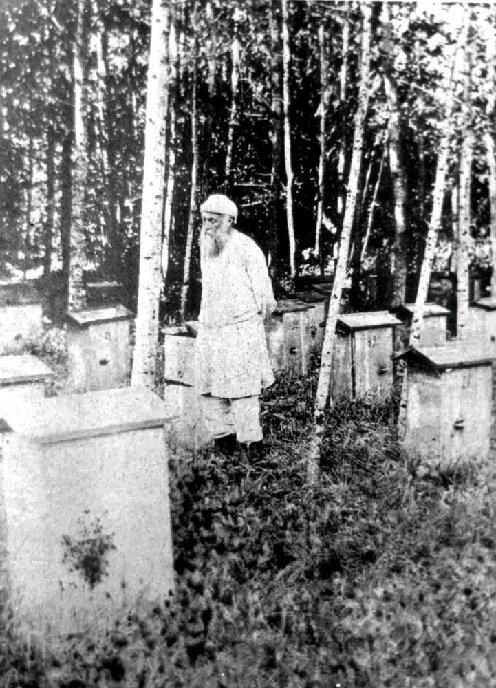 Николай Ге на пасеке