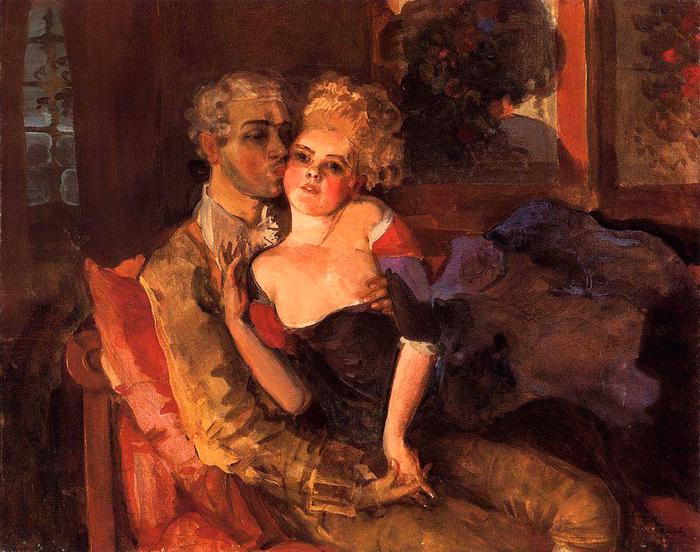 Влюбленные. Вечер, 1910