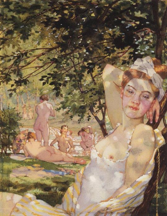 Купальщицы на солнце, 1930