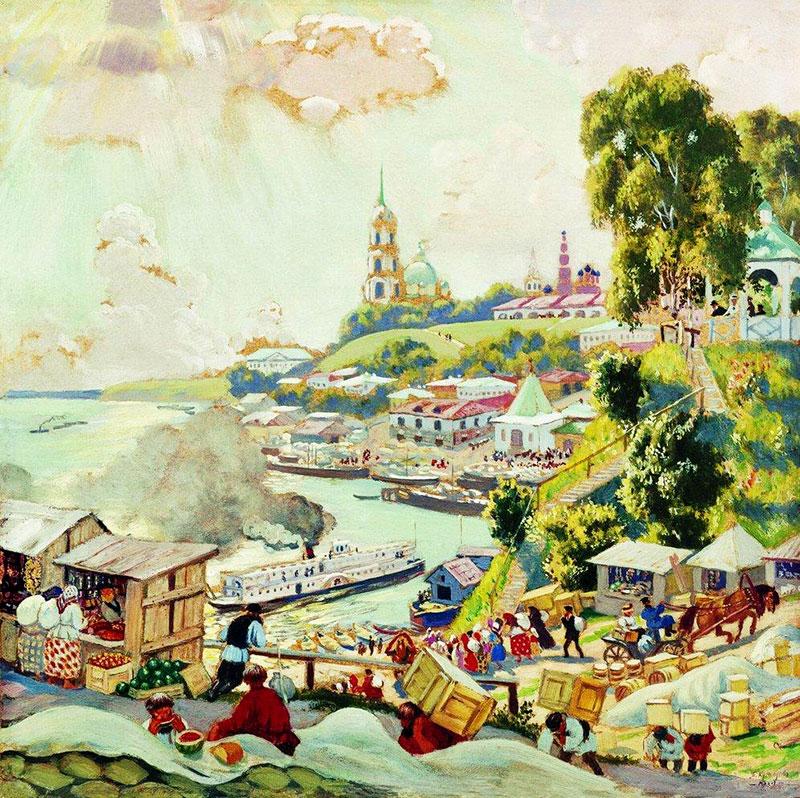 Картинки на рабочий стол кустодиев