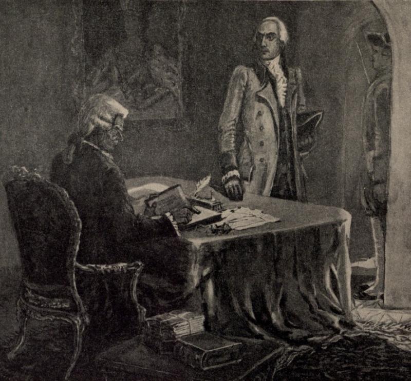 Александр Радищев на допросе
