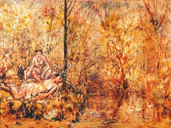 «Две девушки на берегу ручья» 1920-е