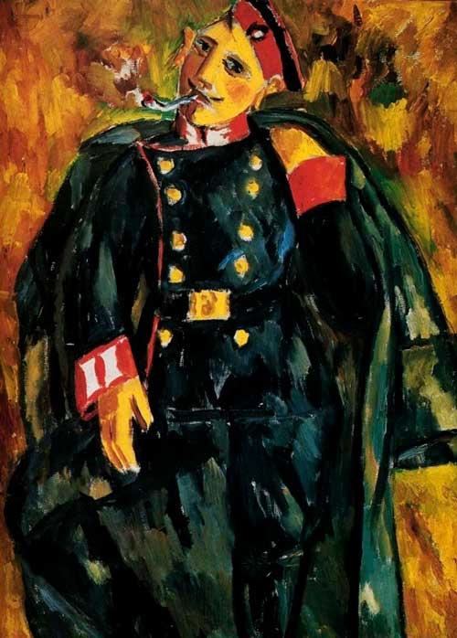 Ларионов М., Курящий солдат