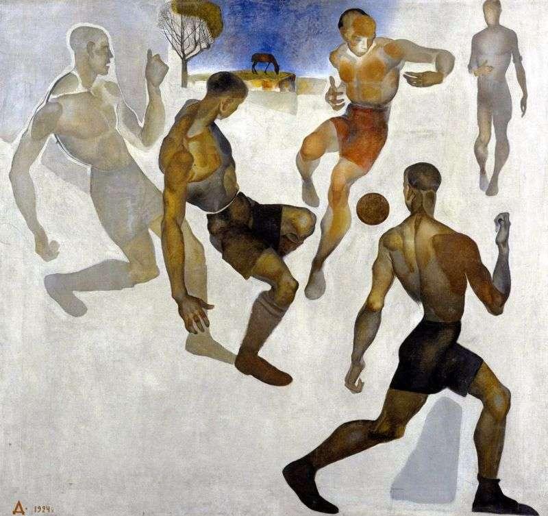 """Александр Дейнека, """"Футбол"""", 1924 год"""