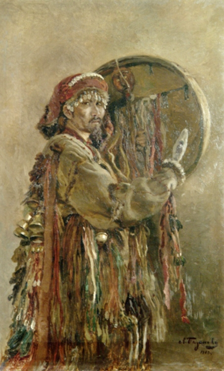 Базанова Л.  Портрет алтайского шамана Мампыя. 1909.