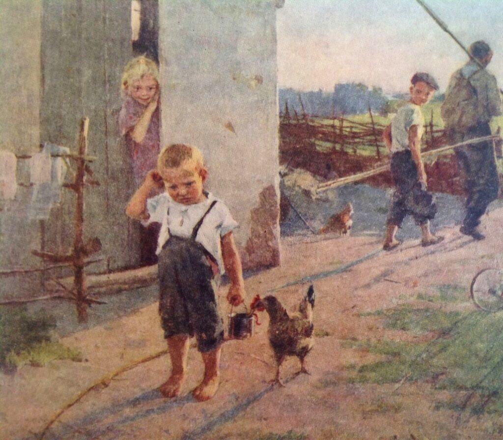 Успенская Ксения Николаевна, Не взяли на рыбалку. 1955.