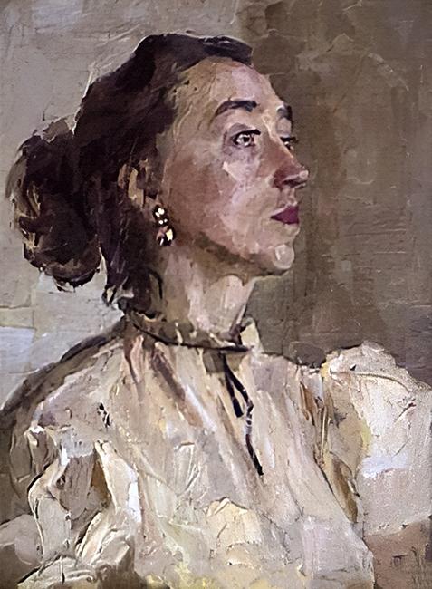 Юманкова Сирена Никитична,  Женский портрет. Холст, масло. 43,3х33,7. 1963