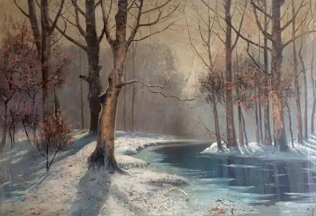 Куриар П. П., Зимний пейзаж. 1875.