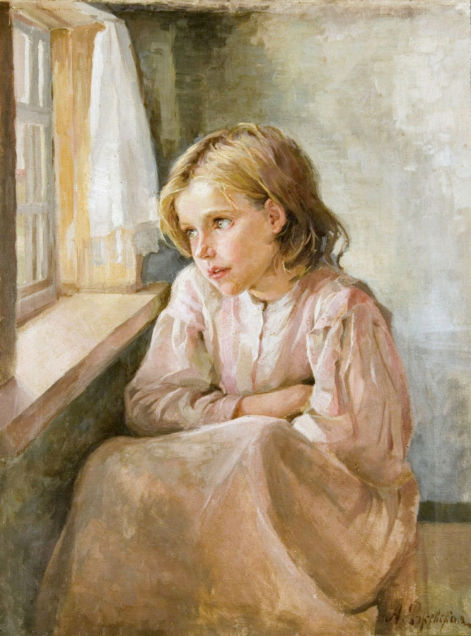 Ржевская А.,   Девочка у окна