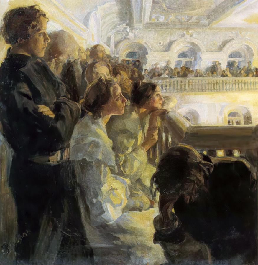 Ржевская А.,  Музыка. Холст, масло. 102х100. 1902-1903.