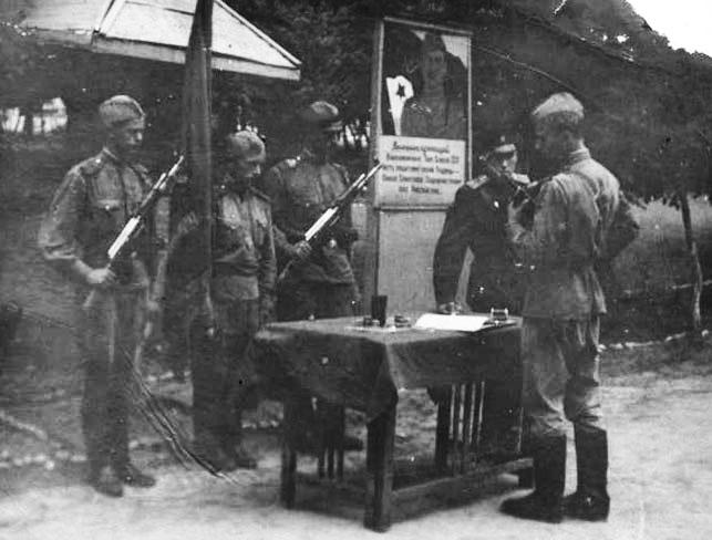 Кущенко А. И., советская армия