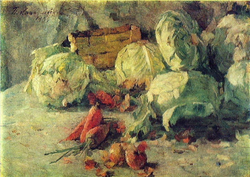 Петр Кончаловский. Натюрморт с капустой. 1937