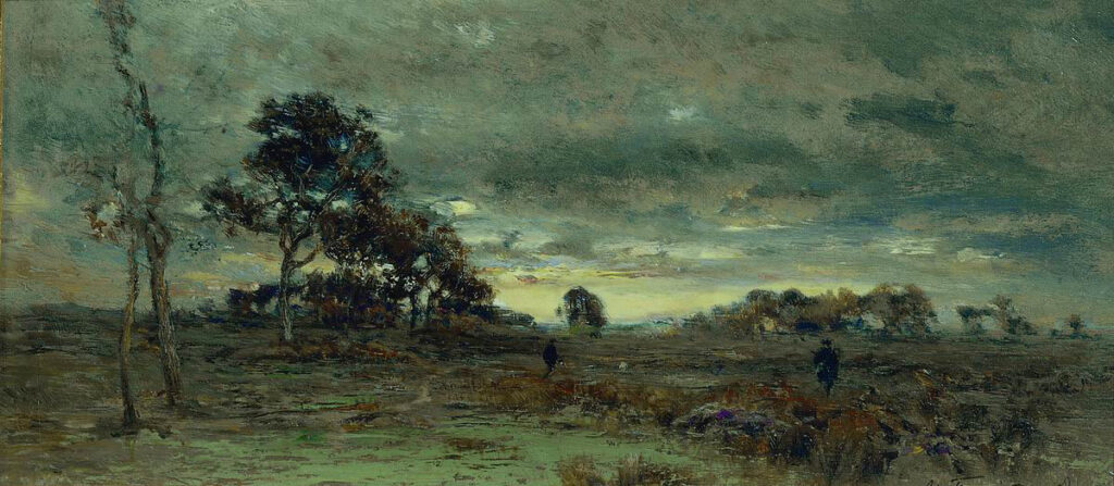 После захода солнца. Барбизон, 1889, Похитонов И.