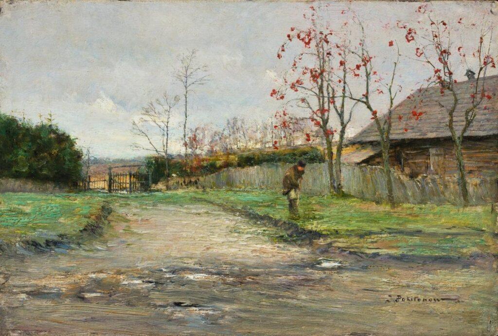 Околица в Жабовщине, 1904, Похитонов И.