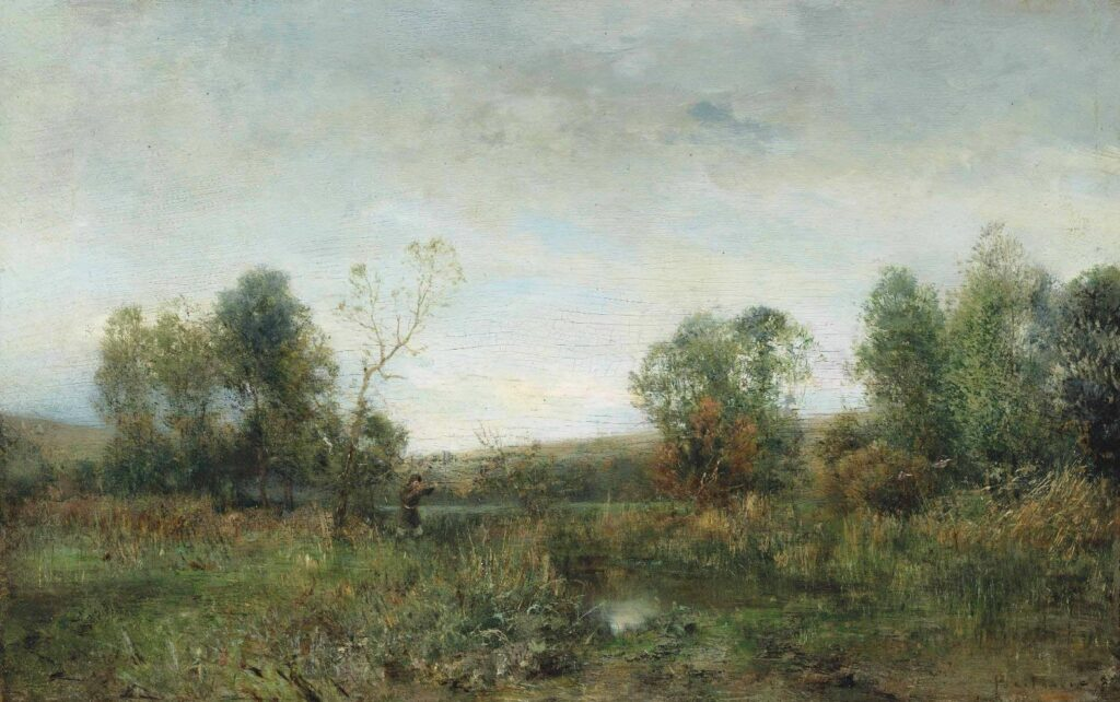 Охотник на болоте. Малороссия, 1880, Похитонов