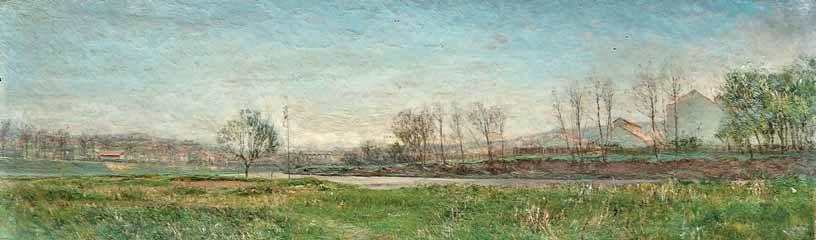 И.П. Похитонов.  «Вид на Бужвиваль» (1880-е гг.).