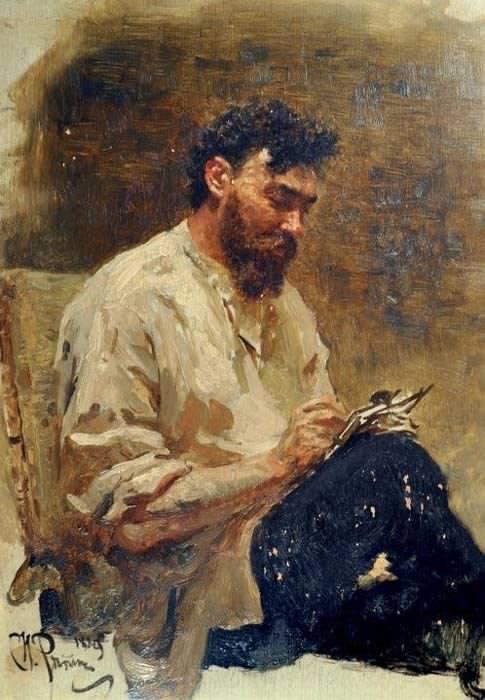 Портрет Ивана Похитонова работы Ильи Репина. 1889 г.