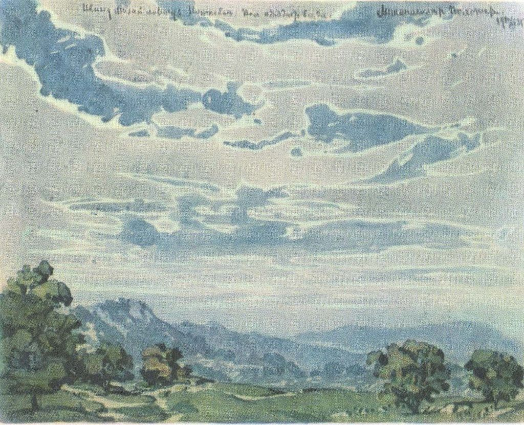 Крымский пейзаж 1925., Волошин М.