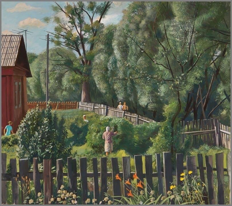 Завьялов Н. Н. (1946) «Сбор смородины» из серии «Лето»
