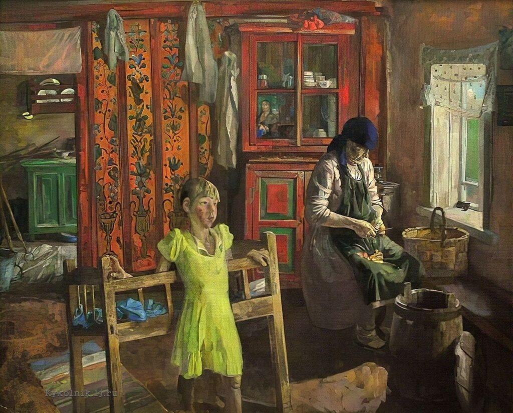 Коркодым В. Н. (1940) «В красном интерьере»