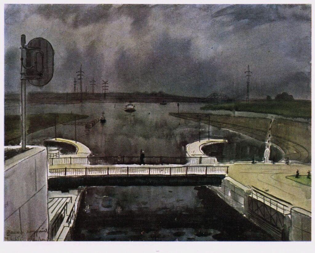 Ветрогонский В. А. (1923-2002) «Шексна хмурится. Седьмой шлюз»