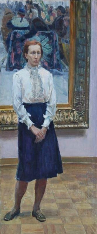 Семёнов Б. А. (1917–1991) «В зале Сурикова» 1973
