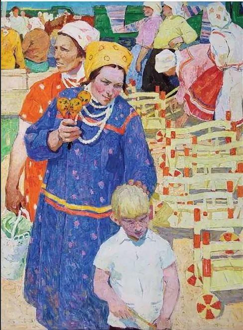 Беднов В. А. (1939) «Мордовская ярмарка» 1966