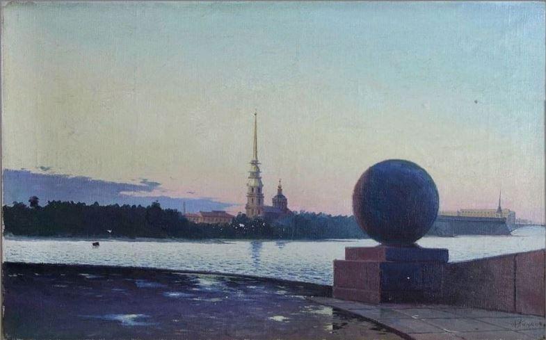 Пинжаков А. С. «Ленинград. Белая ночь» 1960-е