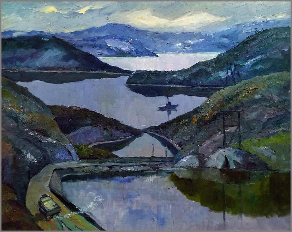Зингер Г. Е. (1914-1995) «Озёра Севера» 1981