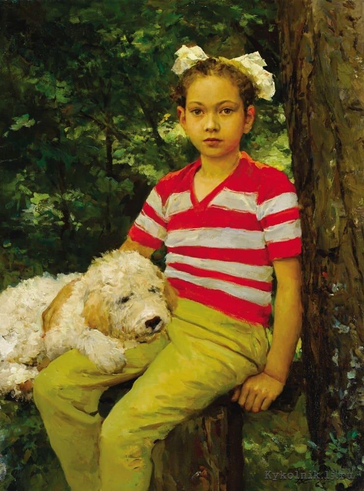 Серов В. А. (1910–1968) «Портрет дочери Маши» 1963