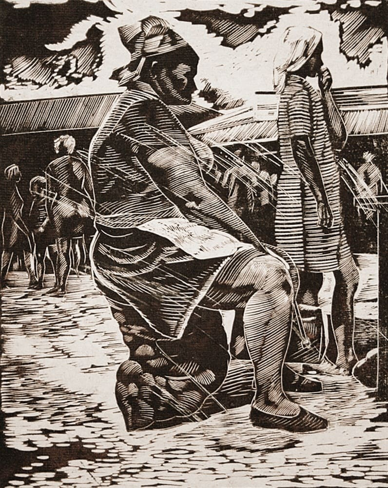 Бурылов В. В. (1934-1979) «На рынке» 1960-е