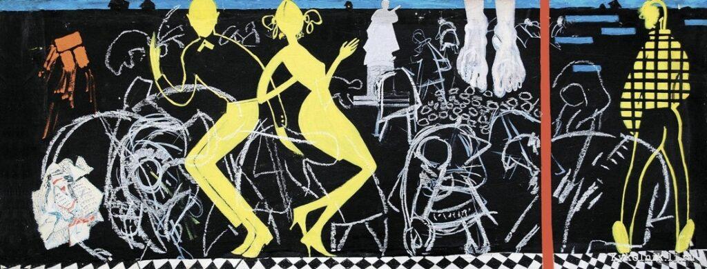 Зарецкий В. И. (1925-1990) «Твист» из цикла «Город» 1967