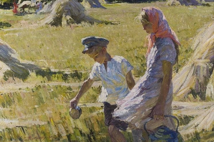 Тикунов Сергей Андреевич  «В жаркий день» 1960